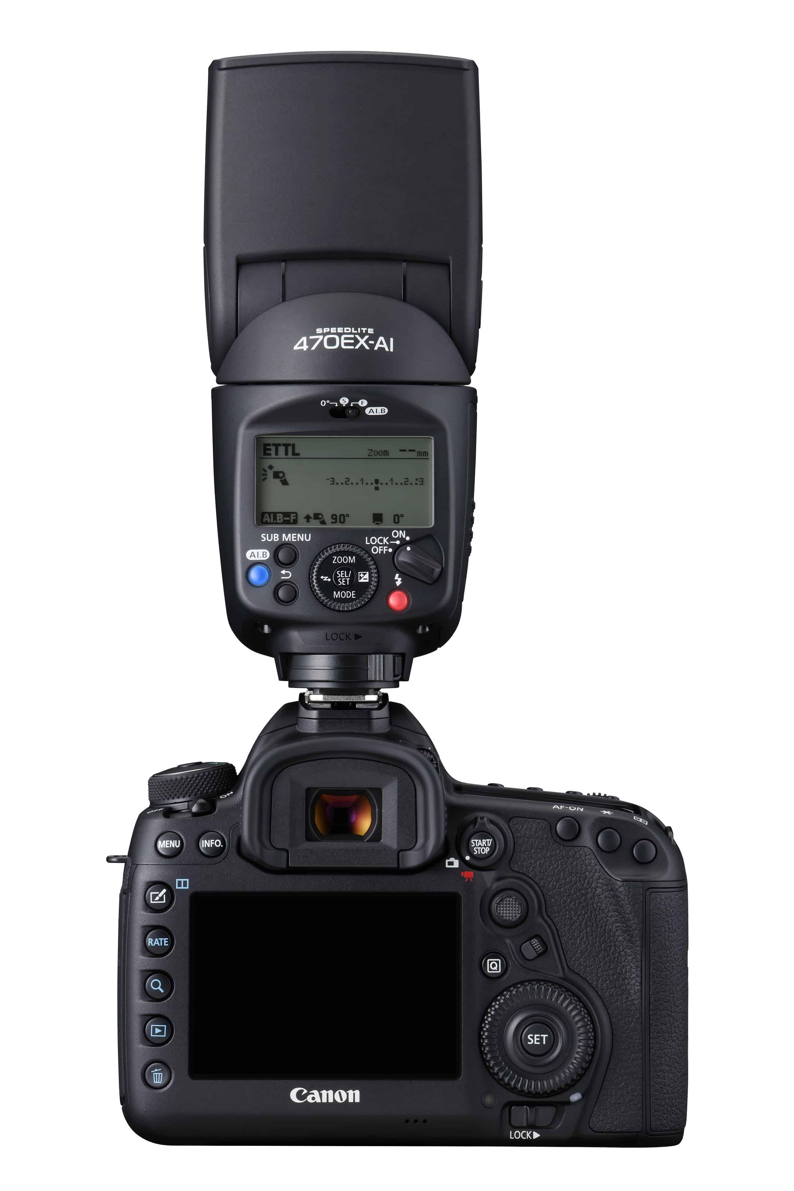 Canon blits 470EX-AI bakside